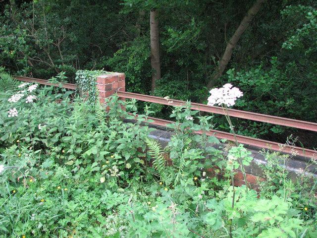 Pilton Quarry Railway: bridge parapet on the Luffenham road