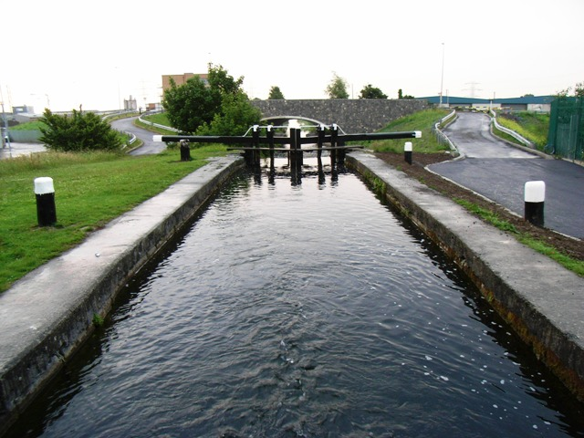 7th Lock on the Grand Canal in Bluebell, Dublin 12; © Copyright JP and licensed for reuse under this Creative Commons Licence.