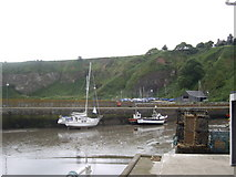 NO8785 : Low tide in Stonehaven Inner Harbour by Stanley Howe