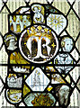 TM2398 : St Mary's church - medieval glass by Evelyn Simak