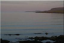 HP6312 : Very calm view at Haroldswick at sunset by Mike Pennington