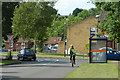 SP0377 : Bus stop & cyclist near Longsdale Rd by Row17