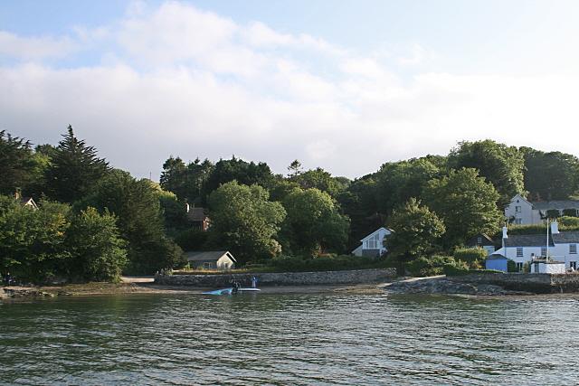 Weir. Restronguet Passage