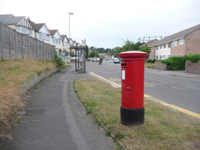 Branksome: postbox № BH12 243, Yarmouth Road
