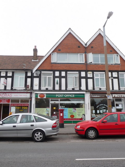 Branksome: Alder Road Post Office and postbox № BH12 225