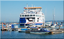 SZ3394 : Ferry leaving Lymington for Yarmouth, IoW by Andy F