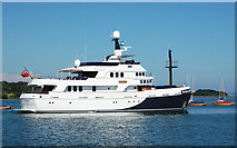 SZ3394 : Large motor yacht leaving Lymington by Andy F