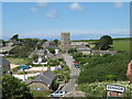SW4538 : Zennor Church From Open Top Bus on B3306 by Roy Hughes
