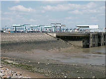 ST1972 : Cardiff Bay barrage by Keith Edkins