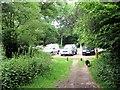 SP9712 : Small Roadside Car Park by Thunderdell Wood, Ashridge by Chris Reynolds