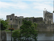 ST1587 : View of Caerphilly Castle from the south by Keith Edkins