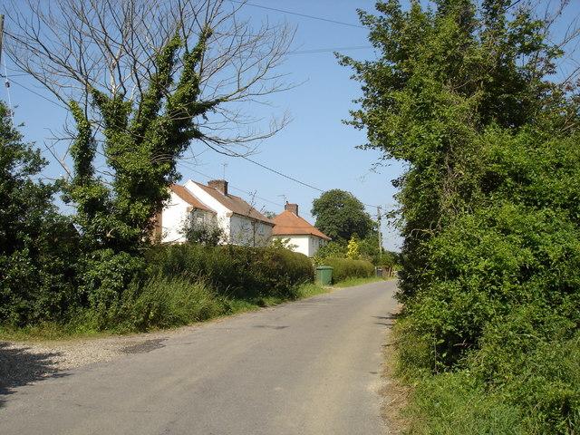 Cottages outside Elmsett