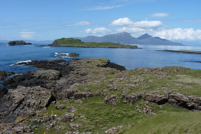A' Ghlasaird headland Isle of Muck