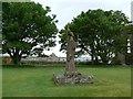NU1241 : St Aidan with Lindisfarne Castle behind by James Allan