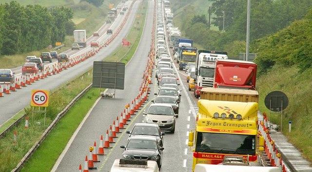 Motorway queue near Lisburn (1)