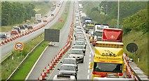 J2965 : Motorway queue near Lisburn (1) by Albert Bridge