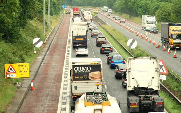 Motorway queue near Lisburn (2)