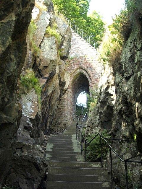 Dumbarton Rock: the Portcullis Arch
