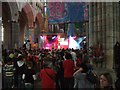 SX9292 : Pop music inside Exeter Cathedral by David Smith