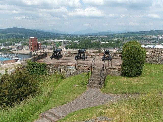 Dumbarton Rock: Duke of Argyll's Battery