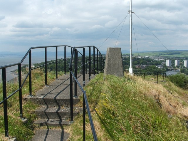 Trig point on Dumbarton Rock