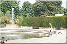 TQ4745 : Fountain at Hever Castle, Hever, Kent by Peter Trimming
