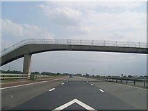SD5236 : Footbridge over the M6 by Stephen Sweeney