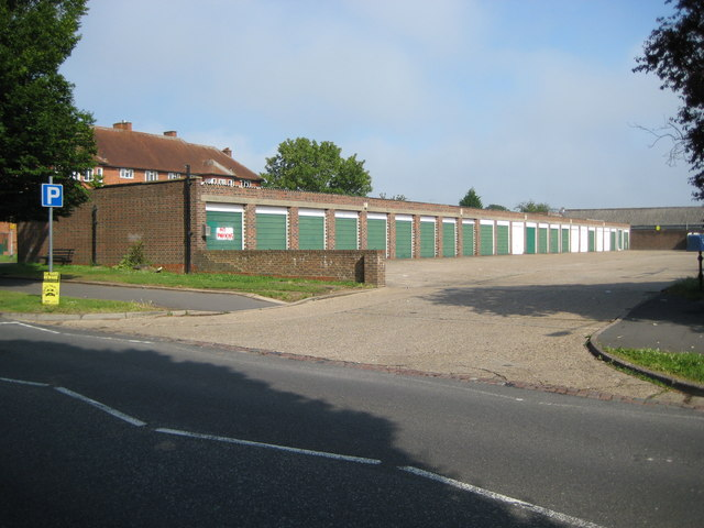 South Oxhey: Garage block off Oxhey Drive