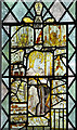 TM2397 : St Mary's church - north aisle east window (detail) by Evelyn Simak