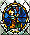 TM2397 : St Mary's church - the oldest figurative glass in Norfolk (detail) by Evelyn Simak