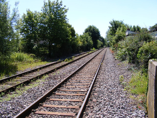 Along the tracks at Halesworth Railway Station