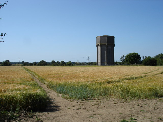 Water tower and footpath
