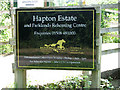 TM1897 : Hapton Estate and Parkland Rehoming Centre (sign) by Evelyn Simak