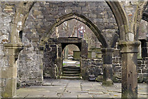 SD9828 : View across the nave to the north door, Heptonstall old church by Phil Champion