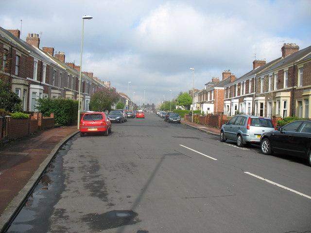 Albert Road in Jarrow