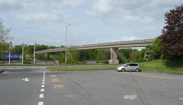 Footbridge, Taunton Deane Services, Pitminster