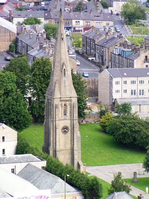 The Spire of the 'Old' St Paul's King Cross from Wainhouse Tower