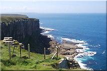 ND2076 : Dunnet Head cliffs by hayley green