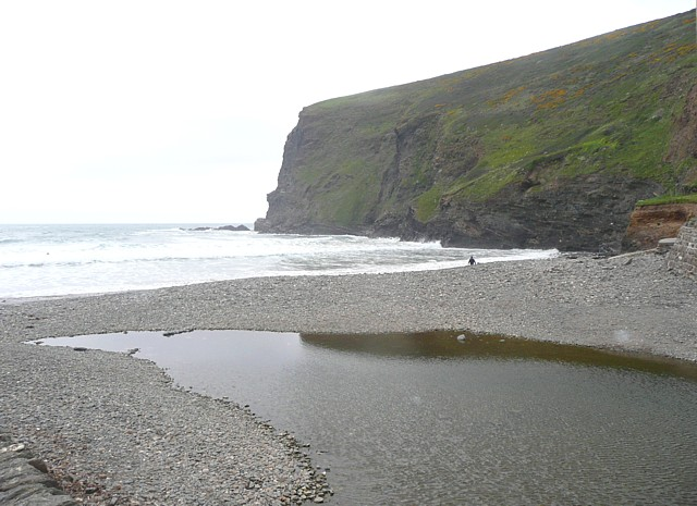Stream on the beach, Crackington Haven, St Gennys