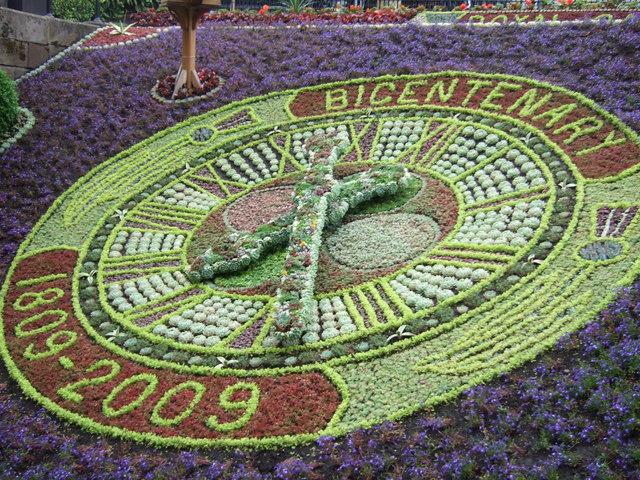 Floral clock in Princes Street Gardens
