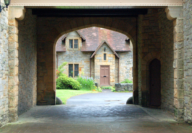 Visitor centre courtyard view, Cragside
