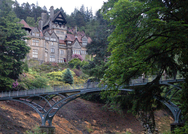 Cragside house and the Iron Bridge