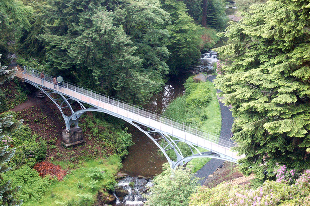 Iron Bridge seen from Cragside House