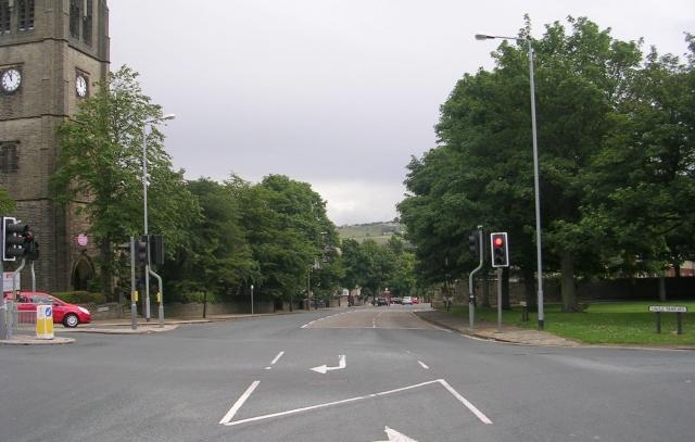 Free School Lane - viewed from Savile Park Road