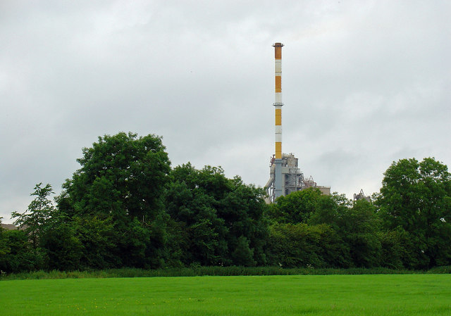 Main stack: Kinnegad cement plant, Co. Meath