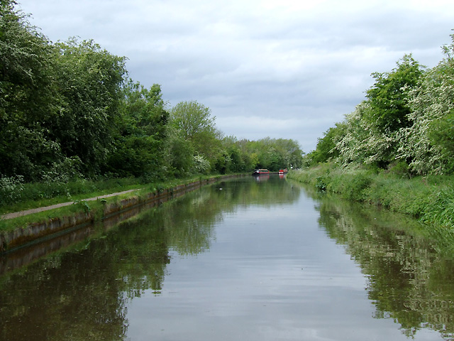 Shropshire Union Canal on Shelmore Embankment, Staffordshire