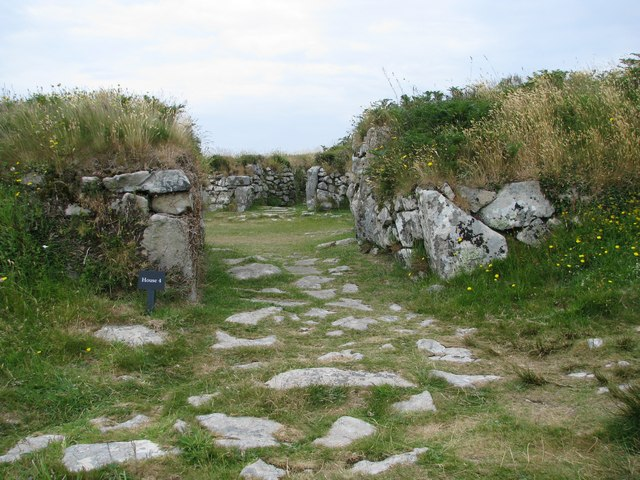 Remains of doorway at Chysauster ancient village