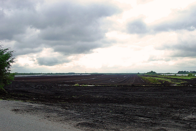 Peat extraction near Raharney, Co. Westmeath