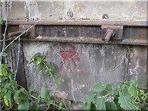 SJ3965 : Bench mark on the viaduct #4 by John S Turner