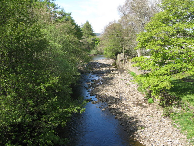 The River Wear upstream of the bridge at Westgate